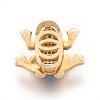 Brass Micro Pave Cubic Zirconia Slide CharmsZIRC-P077-21-NR-3