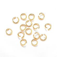 304 Stainless Steel Open Jump Rings STAS-F084-25G