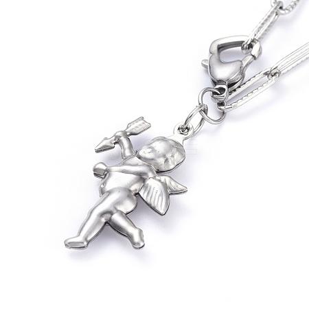 304 Stainless Steel Pendant NecklacesNJEW-JN02776-1