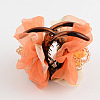 Flower Cloth Plastic Claw Hair Clips PHAR-S296-02-3