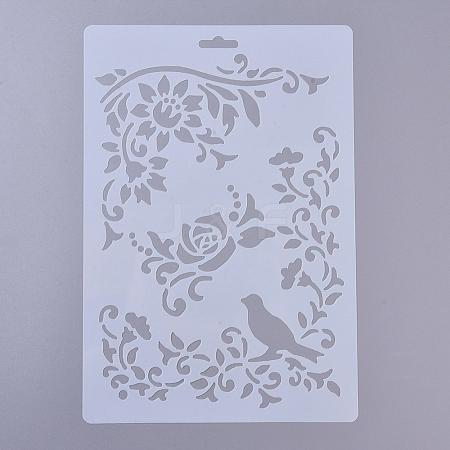 Plastic Drawing Painting Stencils TemplatesDIY-E015-18B-1
