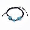 Nylon Thread Braided BraceletsBJEW-JB04344-1