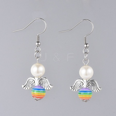Angel Dangle Earrings EJEW-JE03709-03-1