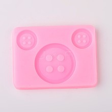Button Design DIY Food Grade Silicone Molds AJEW-L054-48
