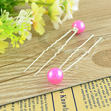 Lady's Hair Accessories Silver Color Iron Ball Hair Forks PHAR-S178-05