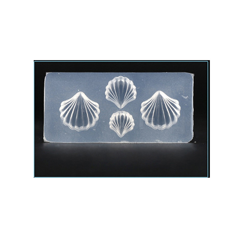 3D Shell Shape Silicone Molds, For DIY Resin Jewelry Making and Nail Art  Design, Clear, 4 1x2x0 7cm