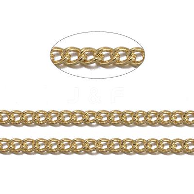 Brass Twisted ChainsCHC010Y-G-1
