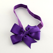 Cute Elastic Baby Headbands Hair Accessories with DIY Cloth Bowknot OHAR-Q002-04E