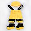 Christmas Style Handmade Crochet Baby Beanie Costume Photography PropsAJEW-R030-37-2