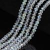 Electroplate Glass Beads StrandsEGLA-A034-T8mm-L19-1