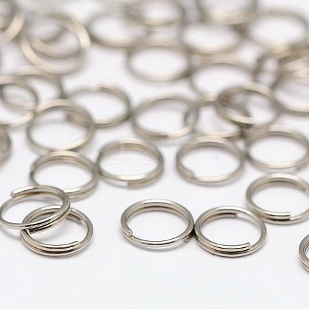 Stainless Steel Split RingsX-STAS-E010-7x0.6mm-2-1