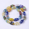 Handmade Millefiori Glass Beads Strands M-LK01-3