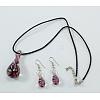 Goldsand Lampwork Jewelry SetSLNE089-1-1